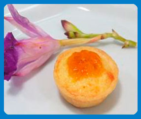 Quiche de queijo com damasco